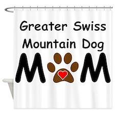 Greater Swiss Mountain Dog Mom Shower Curtain