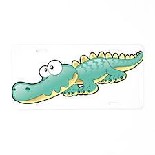 Cartoon Baby Croc Aluminum License Plate