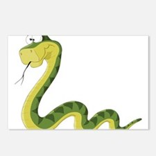 Green Cartoon Snake Postcards (Package of 8)