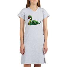 Mean Green Snake Women's Nightshirt
