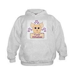 I Love Chihuahuas Cartoon (Pink) Hoodie