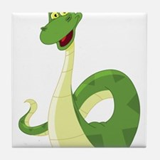 Funny Green Snake Tile Coaster