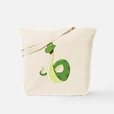 Funny Green Snake Tote Bag