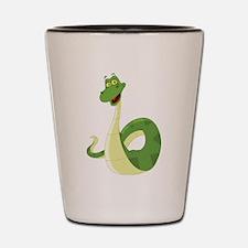 Funny Green Snake Shot Glass