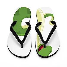 Funny Green Snake Flip Flops