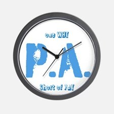 P.A.why Wall Clock
