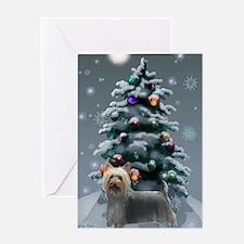 Silky Terrier Christmas Greeting Card