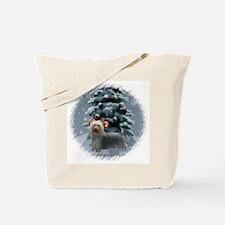 Silky Terrier Christmas Tote Bag
