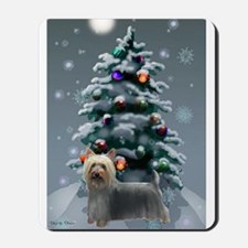 Silky Terrier Christmas Mousepad
