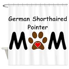 German Shorthaired Pointer Mom Shower Curtain