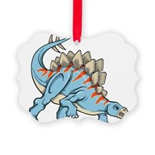 Blue Dinosaur Ornament