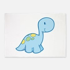 Cute Baby Dinosaur 5'x7'Area Rug