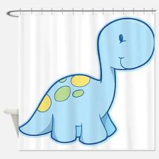 Cute Baby Dinosaur Shower Curtain