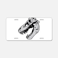 Dinosaur Skeleton Aluminum License Plate
