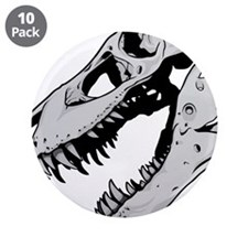 "Dinosaur Skeleton 3.5"" Button (10 pack)"