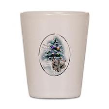 Skye Terrier Christmas Shot Glass