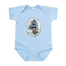 Skye Terrier Christmas Infant Bodysuit