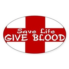 ...Give Blood... Rectangle Decal