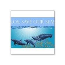Save Our Seas Rectangle Sticker