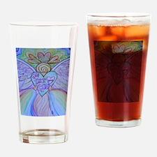 Let Love, Let God Rainbow Angel Drinking Glass