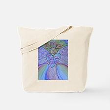 Let Love, Let God Rainbow Angel Tote Bag
