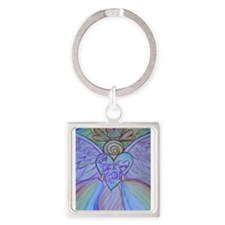 Let Love, Let God Rainbow Angel Keychains