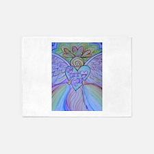 Let Love, Let God Rainbow Angel 5'x7'Area Rug