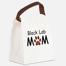 Black Lab Mom Canvas Lunch Bag