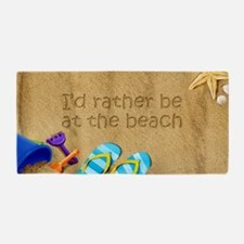 Rather be at Beach Beach Towel