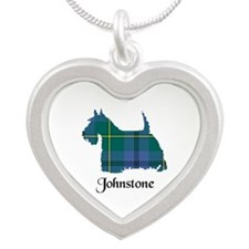 Terrier - Johnstone Silver Heart Necklace
