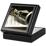 Clarinet Square Keepsake Boxes