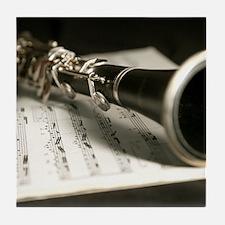 clarinet and Music Case Mens Full Shirt Tile Coast