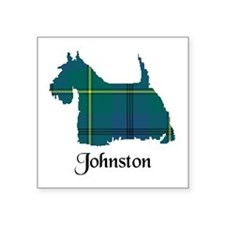 "Terrier - Johnston Square Sticker 3"" x 3"""