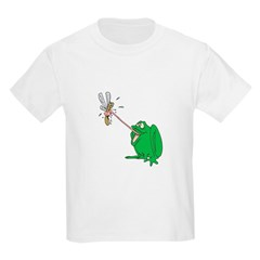 Goofy Frog Catching a Fly Kids T-Shirt