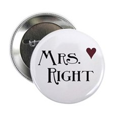 """Mrs. right 2.25"""" Button (10 pack)"""