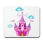 Pink Fairytale Castle Mousepad