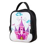 Pink Fairytale Castle Neoprene Lunch Bag