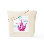 Pink Fairytale Castle Tote Bag