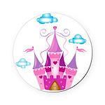 Pink Fairytale Castle Cork Coaster