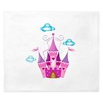 Pink Fairytale Castle King Duvet