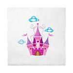 Pink Fairytale Castle Queen Duvet