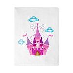 Pink Fairytale Castle Twin Duvet