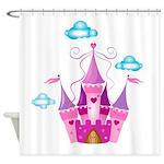 Pink Fairytale Castle Shower Curtain