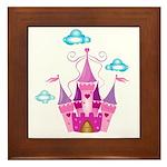 Pink Fairytale Castle Framed Tile