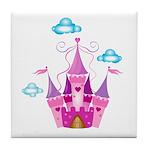 Pink Fairytale Castle Tile Coaster