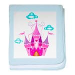 Pink Fairytale Castle baby blanket