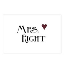 Mrs. right Postcards (Package of 8)
