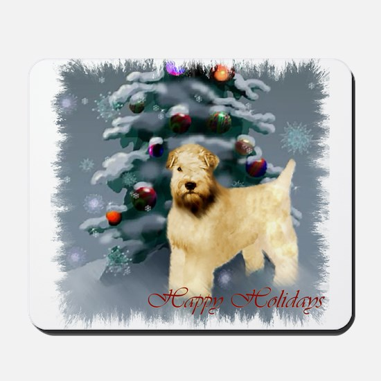 Wheaten Terrier Christmas Mousepad