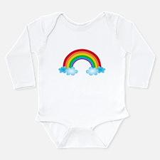 Rainbow & Clouds Long Sleeve Infant Bodysuit