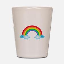 Rainbow & Clouds Shot Glass